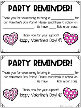Party Time! {EDITABLE party sign ups & reminders}
