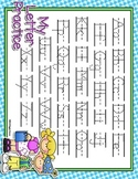 Party Time Gingham Dotted Letter with Line Alphabet Practi