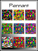 """""""Party Time"""" Square Backgrounds  Kit (Edge Border & Text Boxes Included)"""