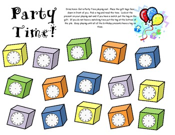 Party Time! Telling Time