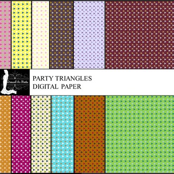 Party Triangles Digital Paper