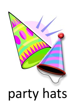Party Vocabulary Flash Cards