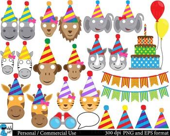 Party animals Props - Clip Art Digital Files Personal Comm