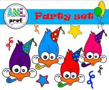 Party clipart - birthday, fête, anniversaire -