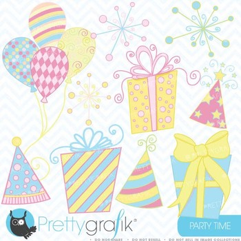 Party time clipart commercial use, vector graphics, digita