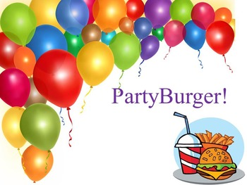 PartyBurger Decimals, Fractions, Mixed, and Whole Numbers Review