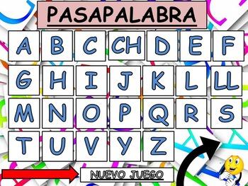 Pasapalabra - Intermediate/Advanced Spanish Vocabulary Game