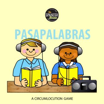 Spanish 1 (Realidades 2A-B) School vocab Pasapalabras circumlocution game Bundle