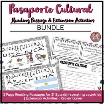 Pasaporte Cultural Country Readers