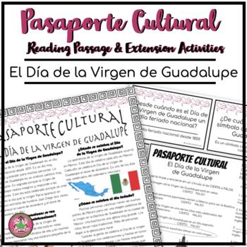 Pasaporte Cultural El Día de la Virgen de Guadalupe Reading Passage