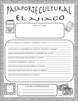 Pasaporte Cultural - El ajiaco