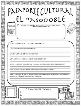 Pasaporte Cultural - El pasodoble