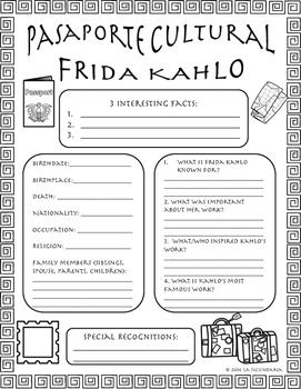 Pasaporte Cultural - Frida Kahlo