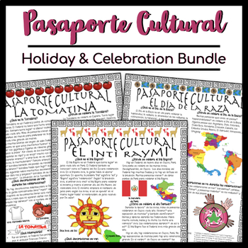 Pasaporte Cultural Holiday and Celebration Reader Growing Bundle