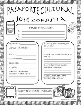 Pasaporte Cultural - José Zorrilla