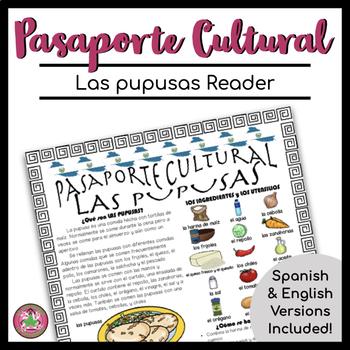 Pasaporte Cultural Las pupusas Reader