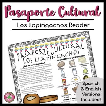 Pasaporte Cultural Los llapingachos Reader