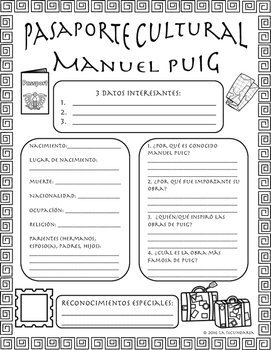 Pasaporte Cultural - Manuel Puig