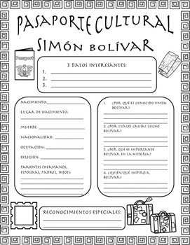Pasaporte Cultural - Simón Bolívar