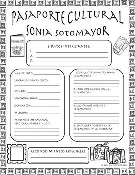 Pasaporte Cultural - Sonia Sotomayor