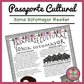 Pasaporte Cultural Sonia Sotomayor Reader
