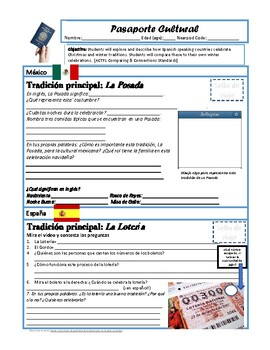 Pasaporte Cultural: Spanish Winter and Christmas Traditions (Nearpod)