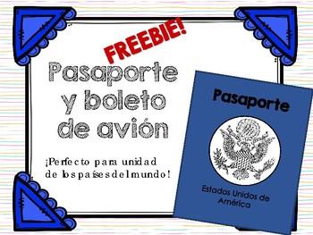 Pasaporte para unidad de los países del mundo - FREEBIE!