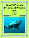 Pascal's Principle Problems of Pressure Set 2 (Forces in Fluids)