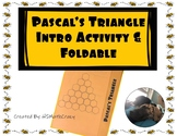 Pascal's Triangle Intro & Foldable