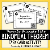 Pascal's Triangle and The Binomial Theorem Task Cards