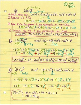 Pascal's Triangle for Binomial Expansion