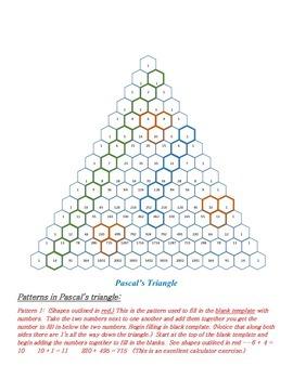 pascal 39 s triangle by sunflower teachers pay teachers. Black Bedroom Furniture Sets. Home Design Ideas