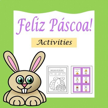 Páscoa: Easter in Portuguese - Activities (1st to 6th)