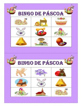 Páscoa: Easter in Portuguese - Games, Flash Cards, and Word Wall (1st to 6th)