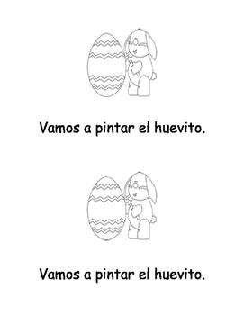 """Pascua """"Librito para leer y colorear"""""""