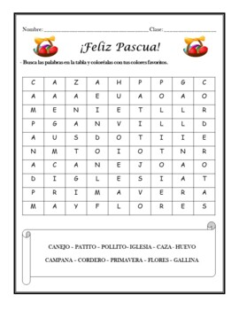 Pascua: Spanish Easter Activities (1st to 6th)