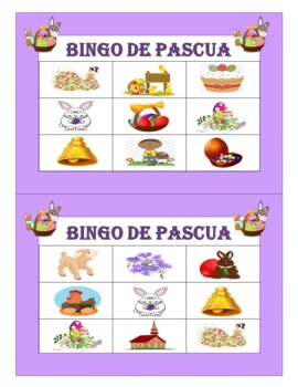 Pascua: Spanish Easter Games, Flash Cards, and Word Wall (1st to 6th)