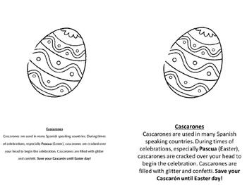 Pascua casacrones information sheet easter