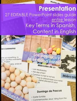 Pascuas y Semana Santa 1 Hour Lesson - Beginning Spanish Middle & High School