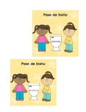 Pase de Baño (Spanish Bathroom Pass