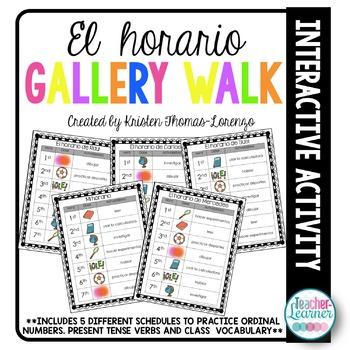 Paseo por la galería (Gallery Walk) -  El horiario