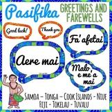 Pasifika Greetings and Farewells Classroom Display | Pacific Islands