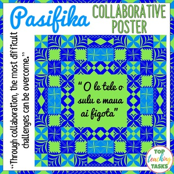 Pasifika Growth Mindset Collaborative Poster | Pacific Islands