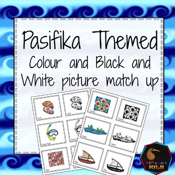 Pasifika themed match up cards