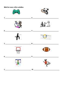 Paso a Paso 1 Ch 3 Vocab Quiz (leisure activities)