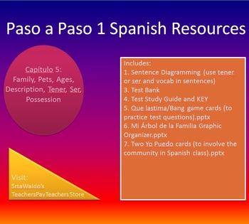 Paso a Paso 1 Ch 5 Family, Pets, Ages, Description, Tener, Ser, Possession