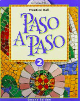 Paso a Paso 2 Chapters 1-4 Chutes & Ladders Games with Keys