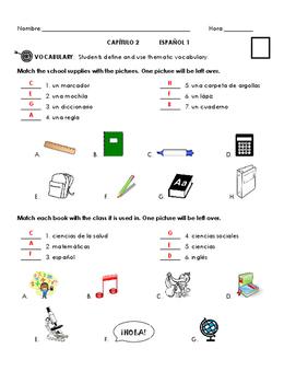 Paso a Paso Ch 2 Vocab Quiz