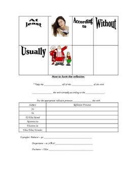 Paso a Paso Chapte 2 Vocabulary Worksheet - Reflexive