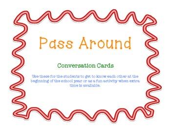 Pass Around Conversation Cards